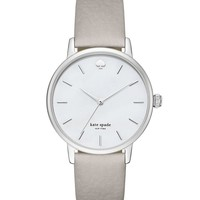 kate spade new york Metro Mother-of-Pearl Analog Leather-Strap Watch | Dillards