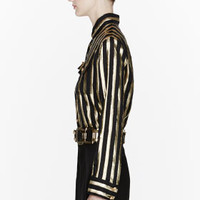 GOLD STRIPED BLOUSE