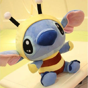 1pcs 20cm Kawaii Anime Bee Stitch Boneca Dolls Plush Toy Brinquedos  Stitch Interstellar Stuffed Plush Toy Christmas Gift