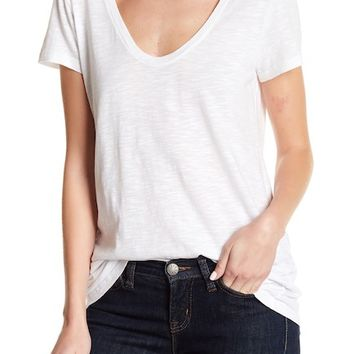 SUSINA | Solid Scoop Neck Tee (Petite Size Available) | Nordstrom Rack