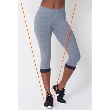 Heather Grey Capri