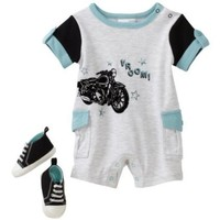 Vitamins Baby Boy Newborn Vroom Two-Piece Romper Set With Shoe