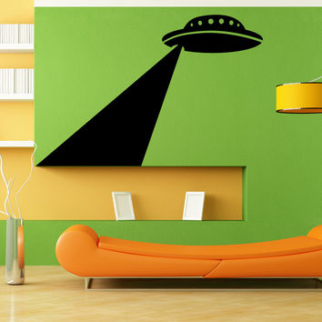Vinyl Wall Decal Sticker Abducting UFO #OS_MB1133