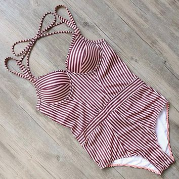 One Piece Bathing Suit RUUHEE  Swimsuit Swimwear Women Bodysuit 2017 Push Up Bathing Suit Vintage Women's Swimming Suit Beachwear Monokini KO_9_1