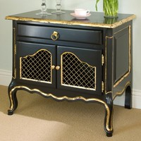 AFK Country French Night Table with Gilding
