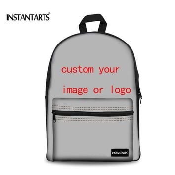 University College Backpack INSTANTARTS 2018 Handle Painted Women School Bags Canvas  for Teenager Girls 3D Tropical Fish  Students RucksackAT_63_4
