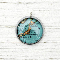 Japan - Antique Map Pendant