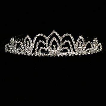 Arched Crystal Rhinestone Tiara First Holy Communion (One Size Girls)