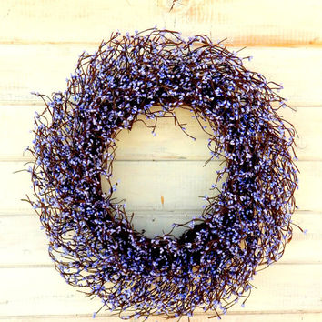 LARGE LAVENDER WREATH-Spring Door Wreath-Purple Berry Wreath-Easter Door Decor-Easter Wreaths-Summer Wedding Wreath-Custom Choose Scent