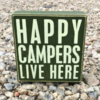 HAPPY CAMPERS BOX SIGN