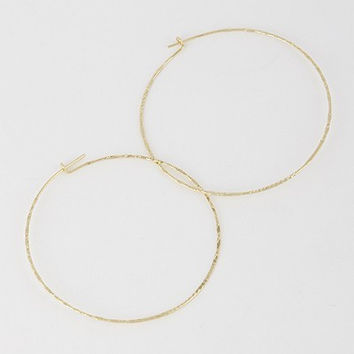 Delgadita Ultra Thin Hoop Earrings