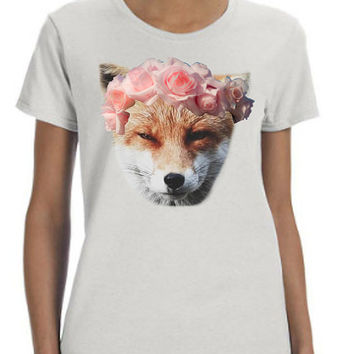 Flower Crown Fox Shirt