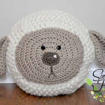Little Lamb Pillow Crochet Pattern pdf