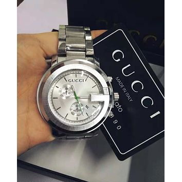 GUCCI Popular Ladies Men Stylish Quartz Movement Watches Wrist Watch Cartier Bracelet Silvery I/A