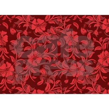 RED FLORAL- BABY BLANKET