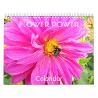 Flower Power Personalized Wall Calendar