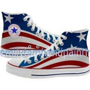 CREYON custom converse american flag the stars and the stripes inspired converse shoes