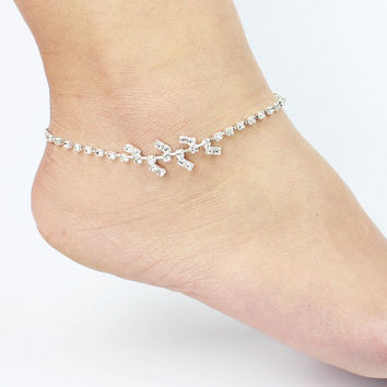 Stylish Ladies Gift Jewelry Cute Sexy New Arrival Shiny Hot Sale Leaf Anklet [6464861313]