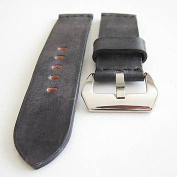 Vintage Black Watch Strap, Black Watch Strap 24mm