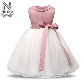 Summer Dress Girl 2018 Brand Baby Girl 1 Year Birthday Toddler Girl Wedding Dress Kids Clothes Baptism Newborn Christening Gowns