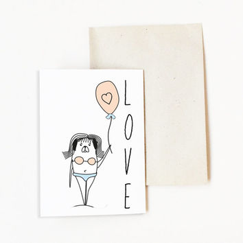 Valentine's Day Card. Love Card. Card for Boyfriend. Card for Girlfriend. Thinking Of You Card. Love Card for Husband Wife