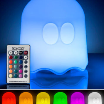 Pac-Man Lamp: Remote-controlled lamp styled after the arcade ghost.