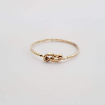 Infinity Knot Ring 14k Gold Filled