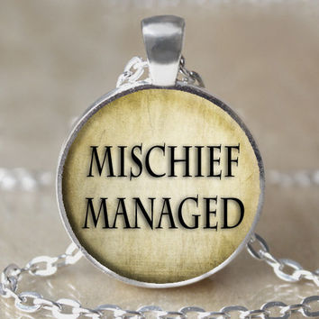Mischief Managed Harry Potter Necklace