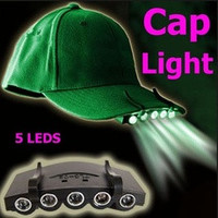 Clip-On 5 LED Fishing Camping Head Light HeadLamp Cap with 2* CR2032 cell Batteries Included  Headlight H1275 [7940905607]