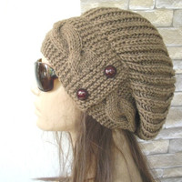 Womens Hat  Slouchy  Hat - Winter Hat  - Slouchy Hat  Barley  - Slouchy Beanie   - Fall Fashion  Accessories - Winter Fashion  Accessories