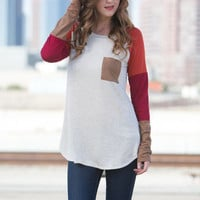 Cool Autumn Nights Long Sleeves Top: Oatmeal