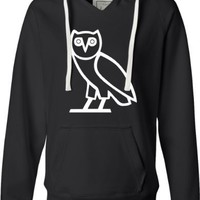 Black Ladies Owl Ovo Ovoxo Drake October's Very Own Deluxe Soft Fashion Hooded Sweatshirt Hoodie