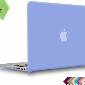 UESWILL Smooth Soft Touch Matte Hard Shell Case Cover for MacBook Air 13 inch (Model: A1466 / A1369) + Microfibre Cleaning Cloth, Serenity Blue