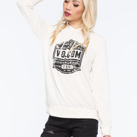 Volcom Shield Me Womens Pullover Hoodie Bone  In Sizes