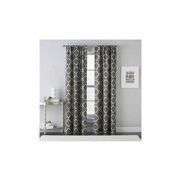 Chf Powersave Cashbah Trellis Curtain Panel Gray, Size: 84L X 40W In