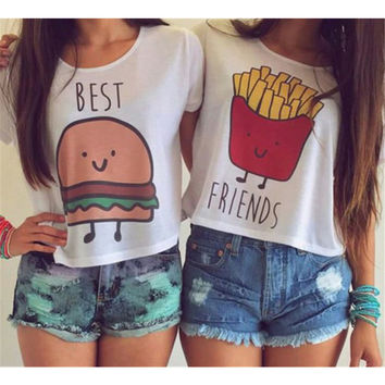 Best Friends [Burger & Fries] Tee (pair)