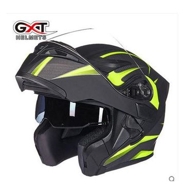 GXT flip up motorcycle helmet double lense full face helmet Casco Racing Capacete with inner sun visor can put bluetooth headset