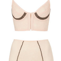 Studded Lace Bralet and High Waist Knickers - Lingerie & Sleepwear  - Clothing  - Topshop USA