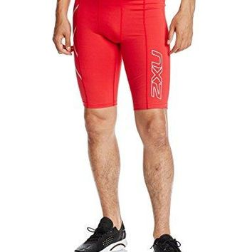 2XU Men's Compression Shorts, Red, Large