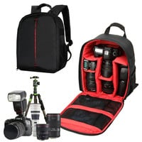 High quality Waterproof multi-functional Digital DSLR Camera Video Bag w/ Rain Cover Small SLR Camera Bag for Photographer IP-01