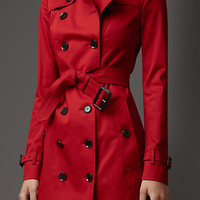 Mid-Length Rainwear Cotton Trench Coat