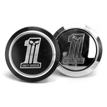 Motorcycle Accessories Aluminum Gas Fuel Tank Cap Vented Fuel Cover for Harley Davidson XL883 1200 Durable