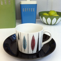 Rörstrand 'Tango' tea cup/espresso demitasse! Mid-Century, Scandinavian, ceramic 1950's cup designed by Marianne Westman