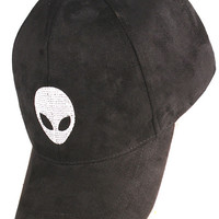 Black Suede Alien Hat