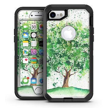 Splattered Watercolor Tree of Life - iPhone 7 or 7 Plus OtterBox Defender Case Skin Decal Kit
