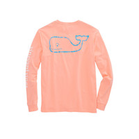 Long-Sleeve Two Tone Vintage Whale Pocket T-Shirt