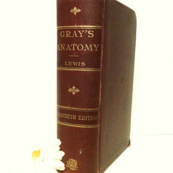 Grays Anatomy,Illustrations,Gift for Him, Doctor,Educational,Medical Book,Dorm Room,Gift,Photo Prop,Ephemera