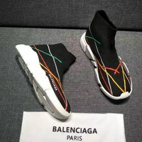 Balenciaga Speed Trainers Stretch Knit Mid Sneakers Style #11 - Best Online Sale