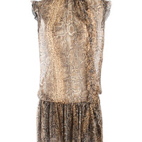 Dolce and Gabbana Silk Chiffon Python Print Day Dress dolce and gabbana 6 by Masha's Closet