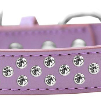 Sprinkles Dog Collar Clear Crystals Size 12 Lavender